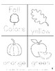 Fall Colors Mini-Reader