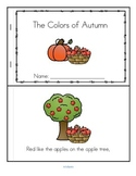 Fall Colors Poem Emergent Reader in Color and B-W FREE