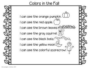 Fall Colors Shared Reading