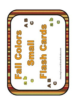 Fall Colors Small Flash Cards