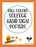 Fall Colors Solfege Hand Sign Posters