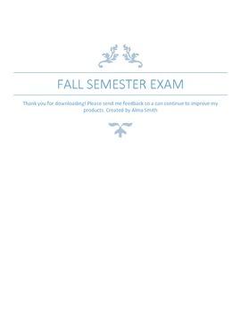 Fall Common Assessment
