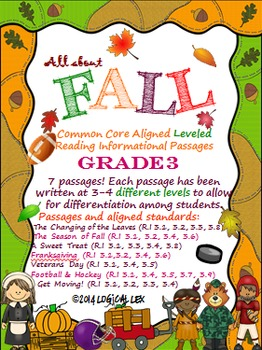 Fall Common Core Reading Informational Text-3rd Grade