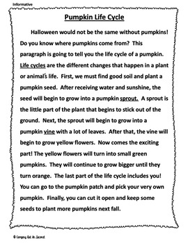 Fall Common Core Text Based Writing Prompts