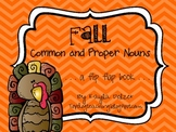 Fall Common and Proper Nouns Flip Flap Book