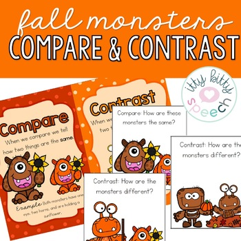 Fall Compare & Contrast Monsters