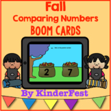 Fall Comparing Numbers Boom Cards