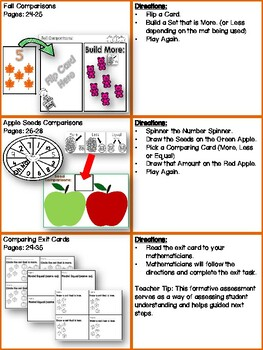 Fall Comparing Numbers and Sets