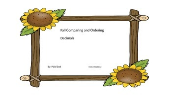 Fall Comparing and Ordering Decimals