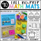 Kindergarten Math Centers : NO PREP Mats - Fall (30+ activities)