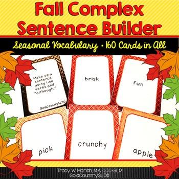 Fall Complex Sentence Builder