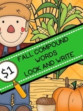 Fall Compound Words Game ~ Dollar Deal!