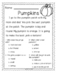 Fall Comprehension Passages for Kinder and First Grade