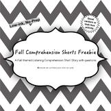 Fall Comprehension Shorts Freebie