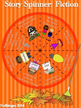 """""""Fall"""" Comprehension Story Spinner Games for Fictional and Informational Texts"""