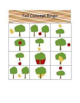 Fall Concept Bingo