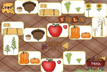 Fall Concepts Antonyms Game Boards
