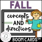 Fall Concepts and Directions BOOM CARDS™ No Print Receptiv