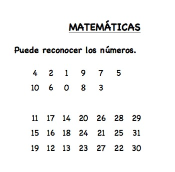 Fall Conference Assessment Form in Spanish