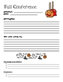 Fall Conference Form October/November Template FREEBIE