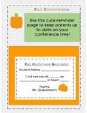 Fall Conference Reminder slip for Parents