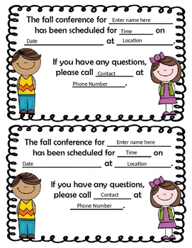 Fall Conference Scheduling Packet-Editable