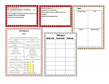 Fall Conference Sheets-Editable