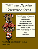Fall Conferences Data Pages (Grades 1-2)