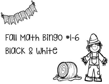 Fall Connect 4 Bingo Math Freebie