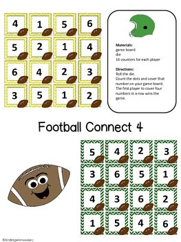 Fall Connect Four Number Recognition Games