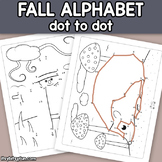 Fall Connect the Dots - Dot to Dot Alphabet Worksheets