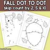 Fall Connect the Dots - Dot to Dot Skip Counting by 2, 5,