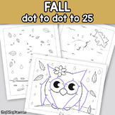 Fall Connect the Dots - Dot to Dot Worksheets Counting to 25