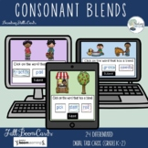 Differentiated Fall Consonant Blends Digital Task Cards