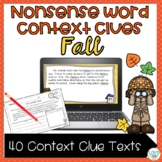 Fall Context Clues with Nonsense Words Printables and PowerPoint