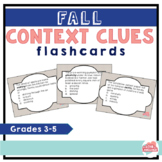 Fall Context Clues Flashcards--30 Flashcards for Grades 3-5