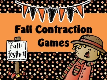 Fall Contraction Games - Common Core Aligned