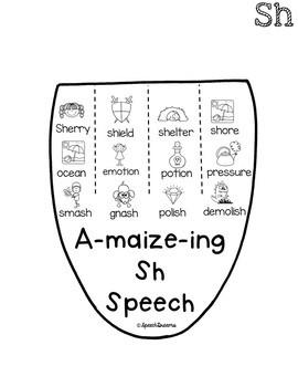 Fall Corn Speech Craftivity {language & articulation craft}