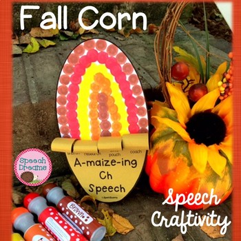 Fall Corn Speech Craftivity {language & articulation craft}