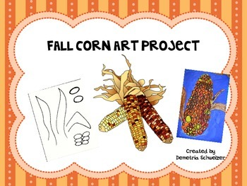 Fall Corn Warm Color Art Project