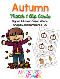 Fall Match & Clip Cards
