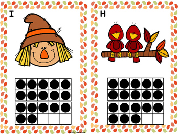 Fall  Count The Room 1-10 & 11-20 Ten Frames