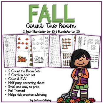 Fall Count The Room: A Math Counting Center / Activity