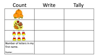 Fall Count Write and Tally