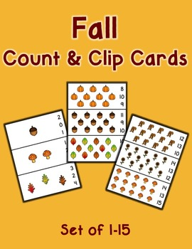 Fall Count and Clip Cards 1-15