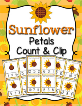 Fall Count and Clip Cards Numbers 1-12 Bundle