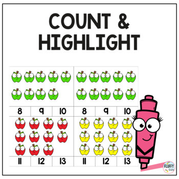 Fall Count and Clip Cards, Counting 1-20