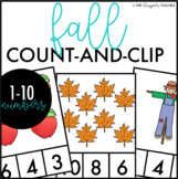 Fall Count and Clip Cards Numbers 1-10