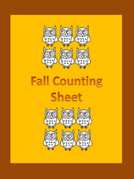 Fall Count and Write Counting Math Worksheet
