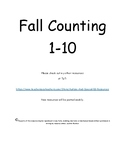 Fall Counting 1-10 Apples and Pumpkins